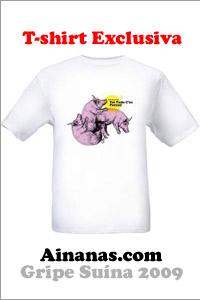 gripe dos porcos t shirt