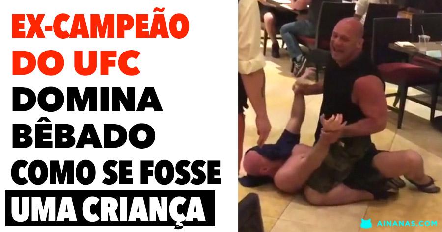 Ex-campeão de Pesos Médios do UFC domina bêbado como se fosse uma criança