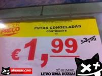 Promoção Continente: Putas Congeladas a 1,99€