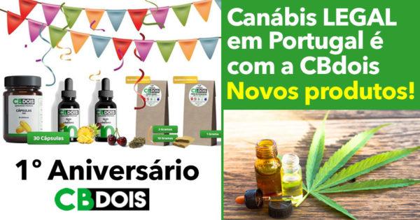Canábis LEGAL em Portugal é com a CBdois