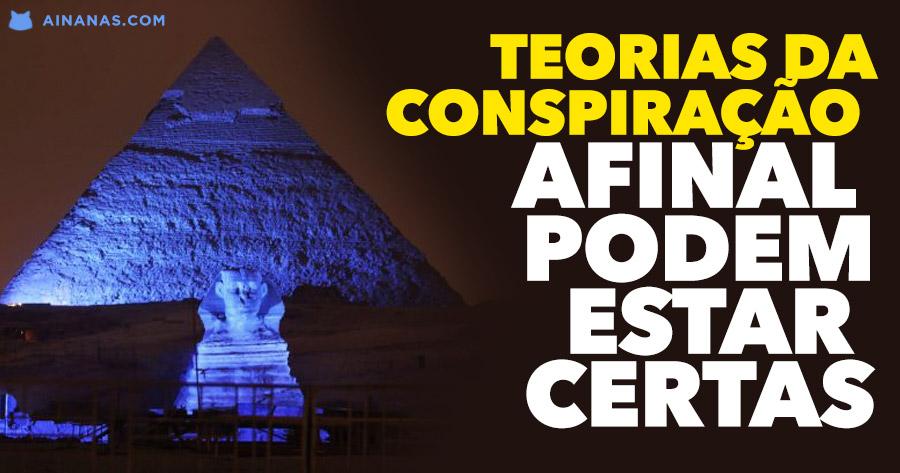 Teorias da conspiração em relação às pirâmides PODEM ESTAR CERTAS