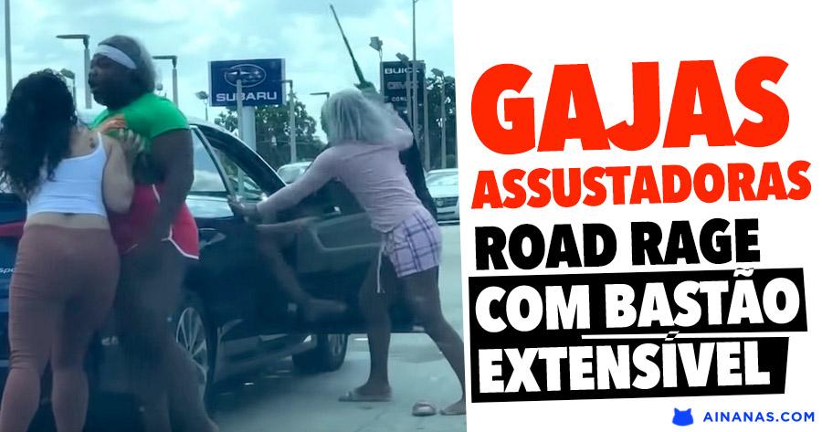 Road Rage DE GAJAS com bastão extensível