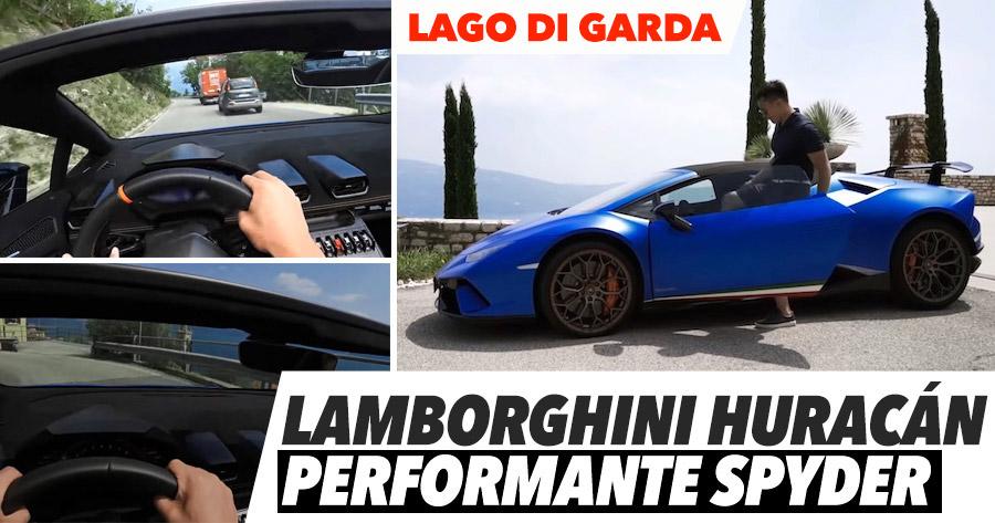 LAMBORGHINI HURACÁN PERFORMANTE SPYDER no Lago di Garda