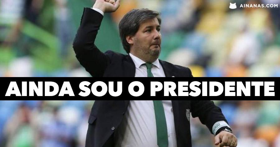 BRUNO DE CARVALHO está de volta e diz que ainda é PRESIDENTE DO SPORTING