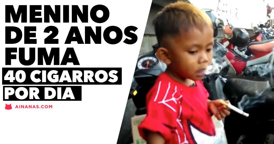 Criança de dois anos fuma DOIS MAÇOS POR DIA