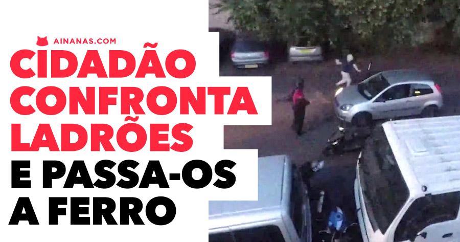 Cidadão Herói Evita Roubo de Mota e ABALROA LADRÕES