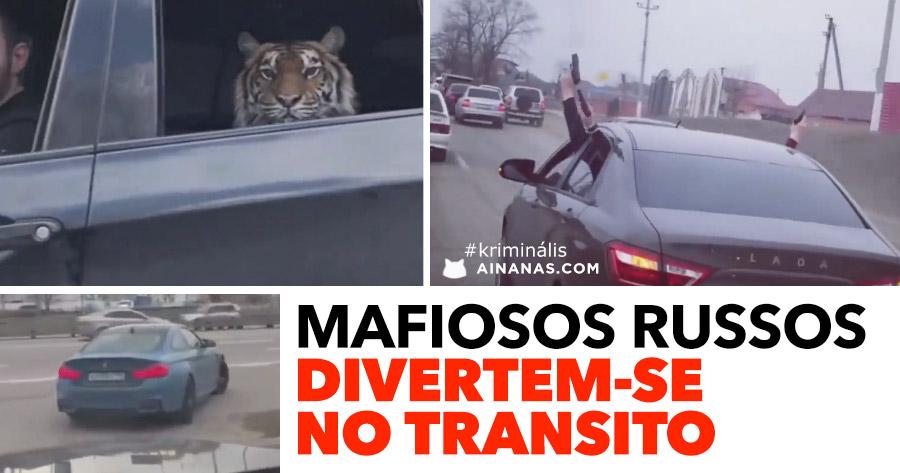 MAFIOSOS RUSSOS divertem-se no trânsito