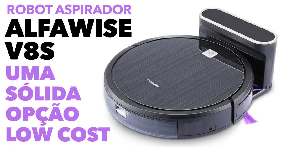 ALFAWISE V8S: opção sólida de robot aspirador LOW COST