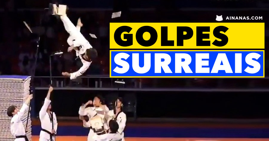 GOLPES SURREAIS da Equipa Sul Coreana de Taekwondo