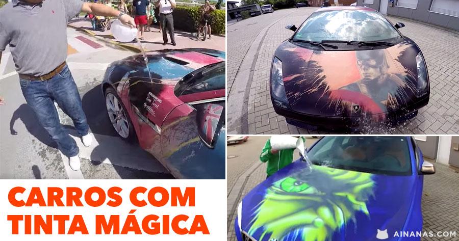 Carros com tinta mágica escondem PINTURAS ÉPICAS