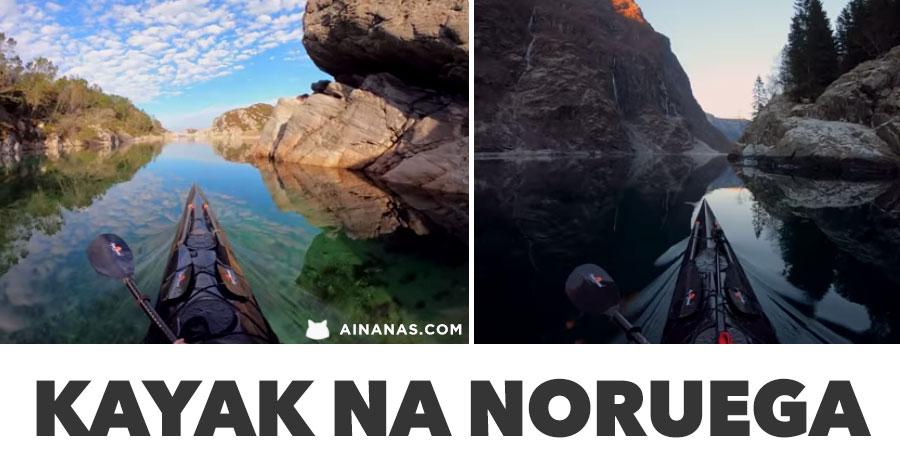De Kayak pelos fjordes da Noruega