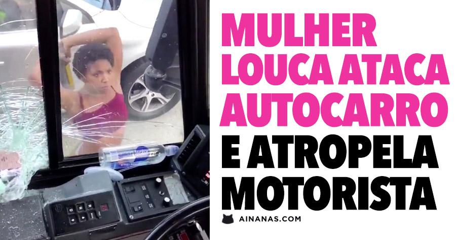 Mulher Ataca autocarro com um Ferro e Atropela Motorista!