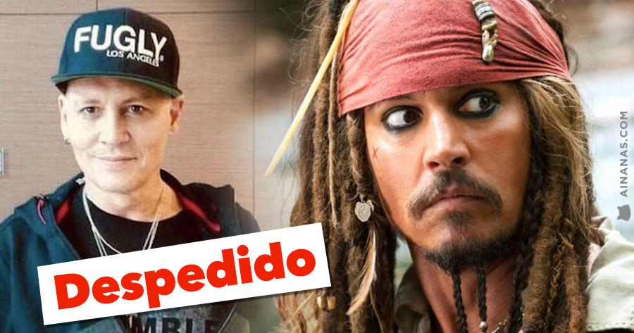 JOHNNY DEPP despedido de Piratas das Caraíbas