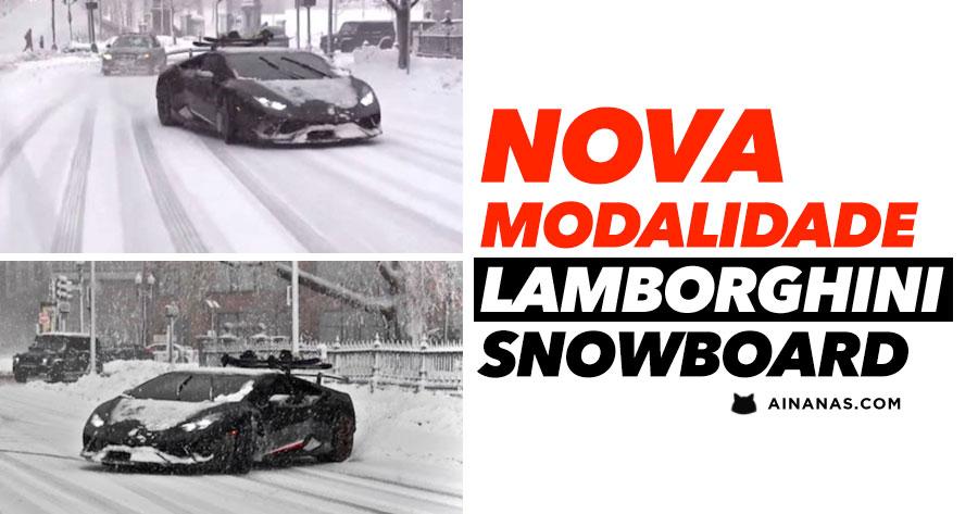Nunca viste Snowboard com LAMBORGHINI