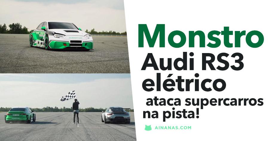 Audi RS3 Elétrico ataca supercarros na pista!