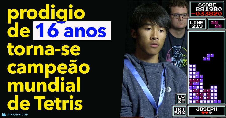 WOW prodígio de 16 anos derrota heptacampeão mundial de TETRIS