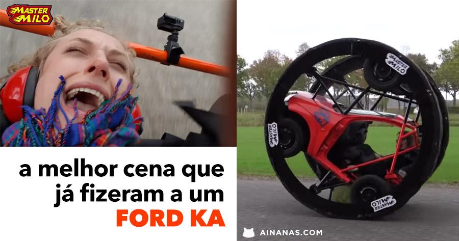 Ford Ka transformado em diversão digna da feira popular