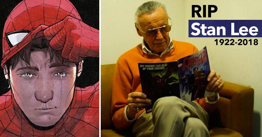 Morreu o LENDÁRIO Stan Lee. Tinha 95 anos