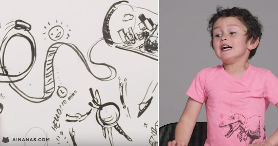 Crianças descrevem O FUTURO a um Ilustrador