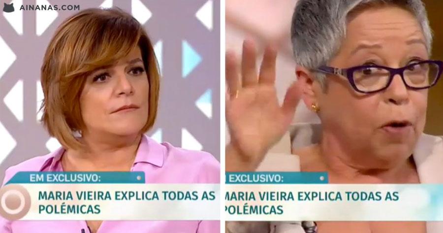 Maria Vieira incapaz de Responder à Júlia Pinheiro