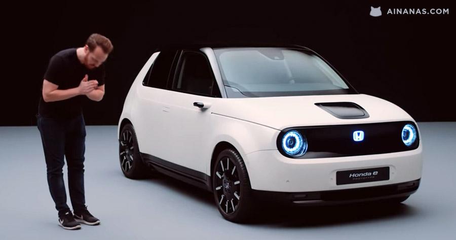 """Confere o prototipo """"Retro Futurista"""" Honda E"""