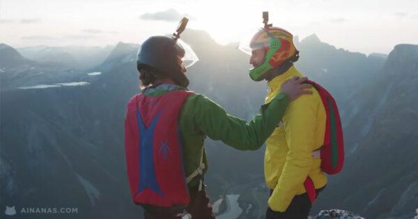Jay Alvarrez faz BASE JUMP na Noruega