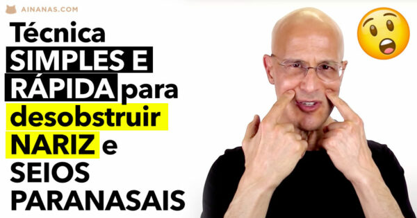 Técnica SIMPLES E RÁPIDA para desentupir NARIZ e SEIOS PARANASAIS