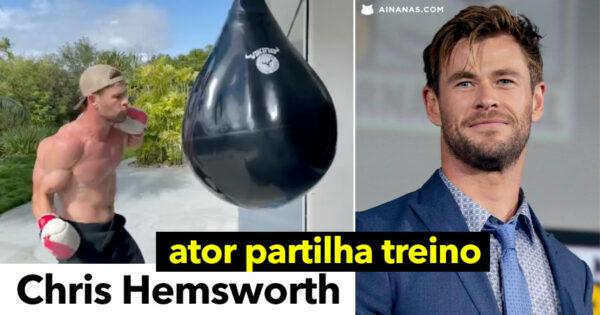 """Chris Hemsworth partilha treino de deixar o """"pulmão a gritar por misericórdia"""""""