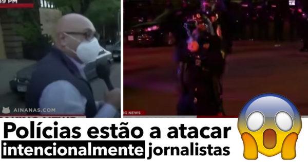 Jornalistas ATACADOS pela polícia nos Protestos dos EUA