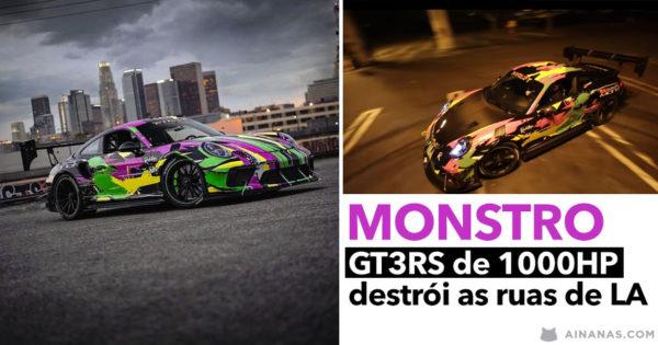GT3 RS Twin Turbo de 1000HP destrói as Ruas de LA