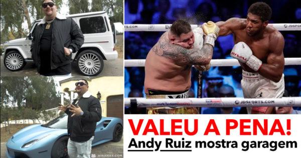 Ex campeão de Pesos Pesados ANDY RUIZ mostra os seus carros