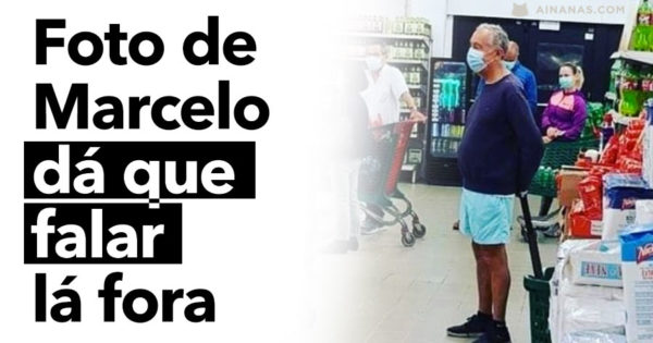 Foto de MARCELO REBELO DE SOUSA dá que falar lá fora