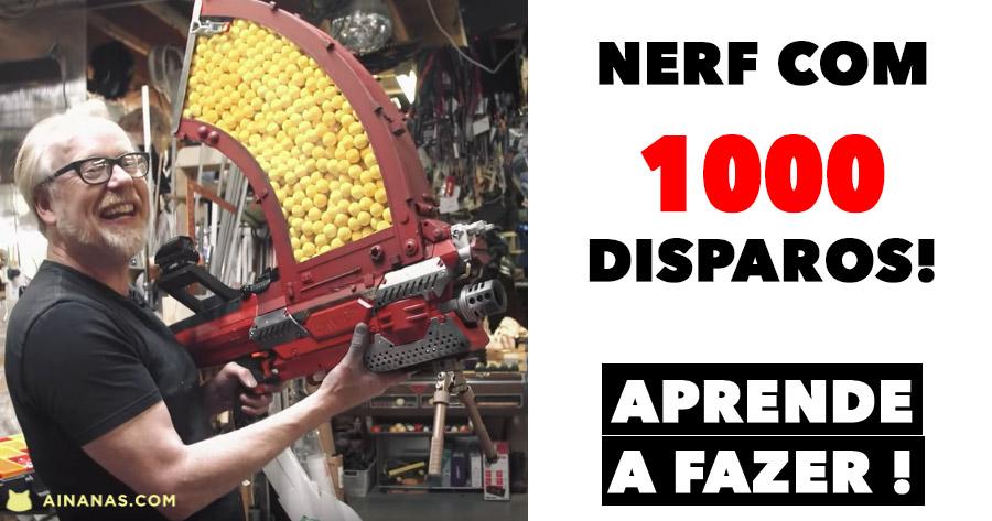 METRALHADORA NERF com 1000 disparos!
