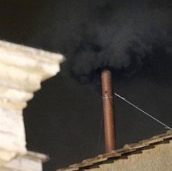 FUMO NEGRO: não foi hoje que escolheram o novo papa
