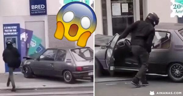Tentativa de ASSALTO a multibanco com Peugeot 205