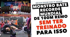 Monstro BATE RECORDE MUNDIAL de Remo sem Ter treinado para isso