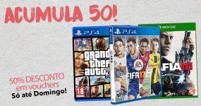 RÁPIDO: ACUMULA 50% desconto em Videojogos