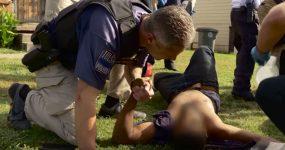 Polícia apoia GANGSTER Baleado no Peito