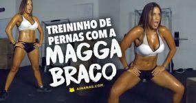 Confere um TREINO DE PERNAS da Magga Bracco