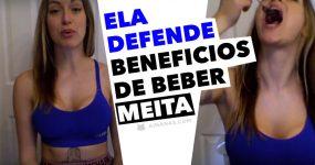 """Rapariga defende benefícios de BEBER MEITA e engole """"shot"""" de um amigo"""