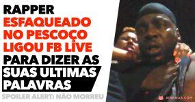Rapper ESFAQUEADO NO PESCOÇO liga facebook live enquanto sangra