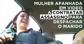Mulher Filmada a Combinar A MORTE DO MARIDO