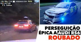 INTENSA perseguição a um AUDI RS6 roubado