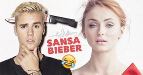 SANSA imita Jon Snow, Justin Bieber e Wolverine!