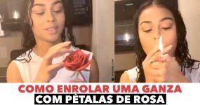 Ela mostra como ENROLAR UMA GANZA com Pétalas de Rosa