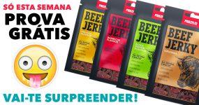 EXPERIMENTA GRÁTIS o delicioso Jerky da Prozis
