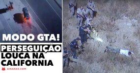 Perseguição Louca na California Acaba em MODO GTA
