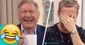 A Entrevista MAIS HILARIANTE a Ryan Gosling e Harrison Ford