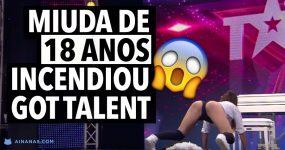 Rapariga de 18 anos DÁ TUDO no Got Talent.. e o pai ficou orgulhoso!