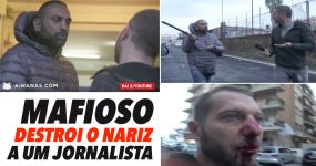 MAFIOSO DESTROI NARIZ a Jornalista por ser Metediço
